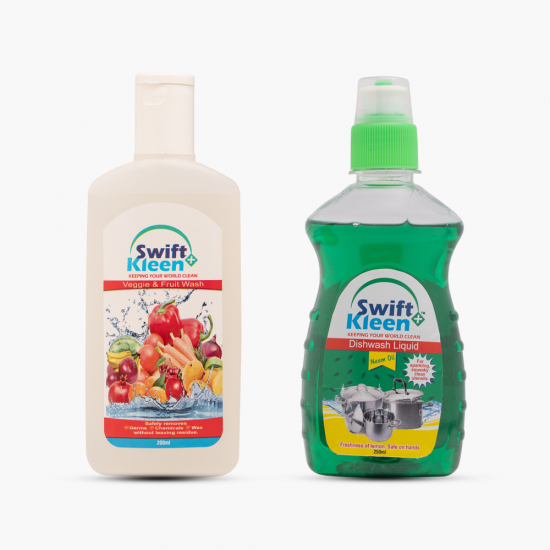 Dish Wash - 250ml- Neem  + Veggie & Fruit Wash-200ml