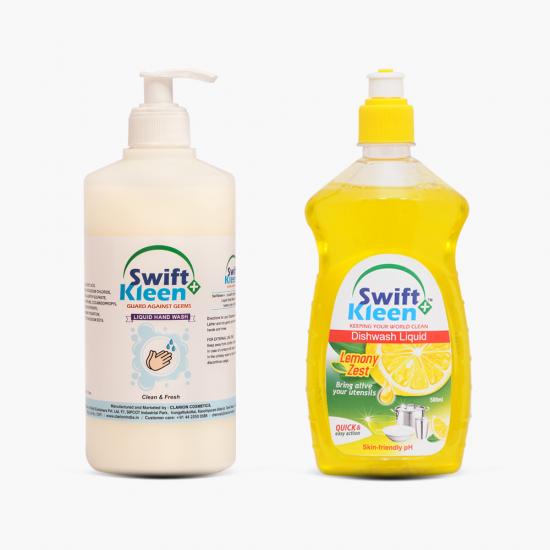 Hand Wash 500ml +  Dish Wash Lemon 500ml
